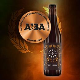 Dopplebock beer wins bronze.