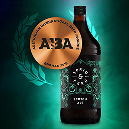 Scotch ale craft beer bronze award.