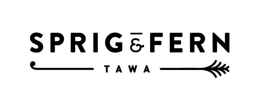 Sprig & Fern Tawa logo.