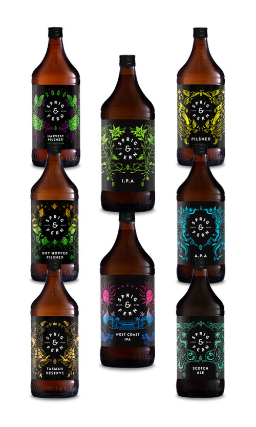 Eight Pack of Sprig & Fern Beer in 888ml
